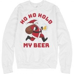 Ho Ho Hold My Beer Santa Sweater
