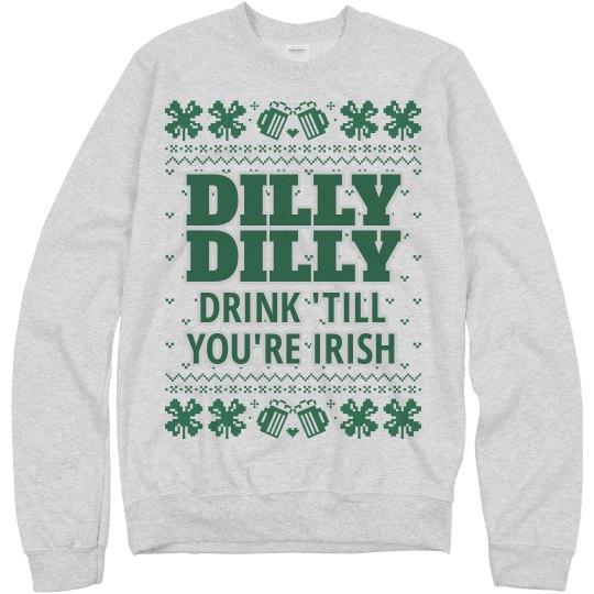 502e496c62 Dilly Dilly Irish Drinking Unisex Basic Promo Crewneck Sweatshirt