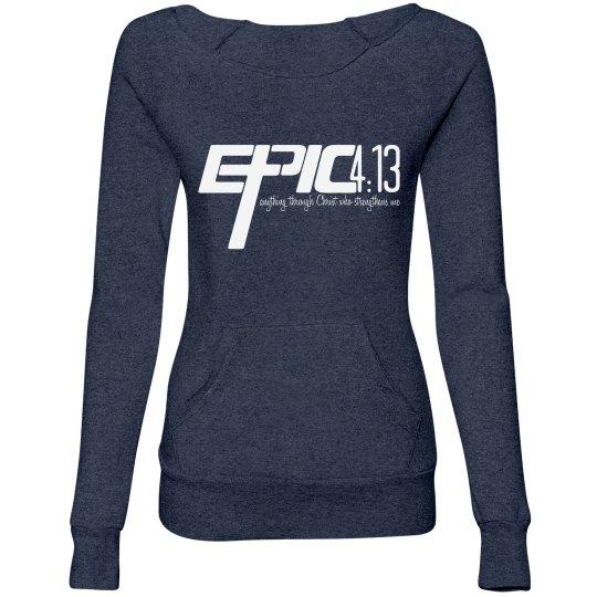 E.P.I.C. 4:13 - Women's Wideneck Sweatshirt with Pocket