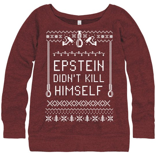 Epstein Slouchy Ugly Christmas Sweater
