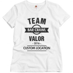 Custom Team Valor Bar Crawl Tee
