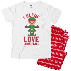 Funny Elfin' Xmas Christmas Pajamas