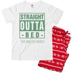 Kids Straight Outta Xmas Pajamas