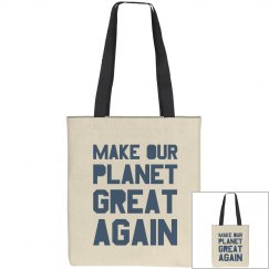 Make our planet great again blue bag.
