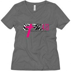 E.P.I.C. 4:13 - Women's V-Neck Shirt with Zebra Logo