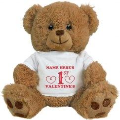 Custom 1st Valentine's Bear Gift