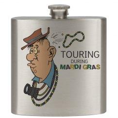 Tourist Mardi Gras Flask