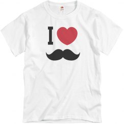 I Heart My Stache Tee