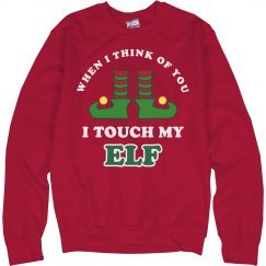 Touch My Elf Funny Xmas Sweater