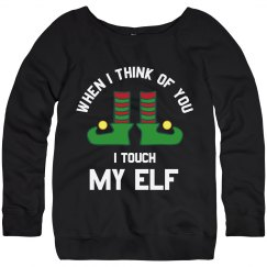 Funny Touch My Elf Ugly Sweater
