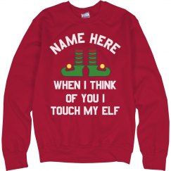 Funny Custom Touch My Elf Xmas
