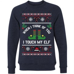 Touch My Elf Christmas Pun Sweater