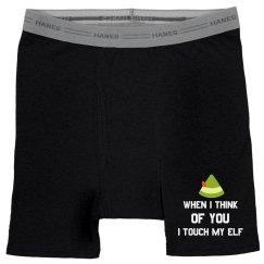 I Touch My Elf Christmas Underwear