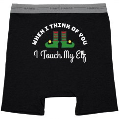 Touch My Elf Tacky Christmas Undies