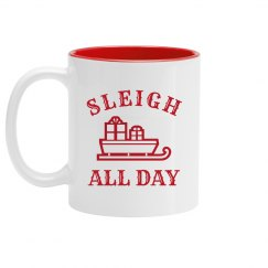 Cute Sleigh All Day Festive Design