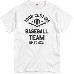 Custom Baseball Team Text