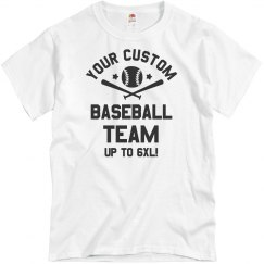 Custom Baseball Team Text