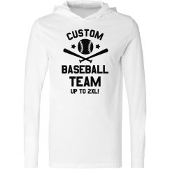 Custom Text Baseball Team