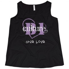 one love ladies tank curvy