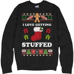 Getting Stuffed Ugly Xmas Sweater
