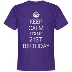 It's my 21st birthday