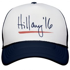Hillary Clinton Hat Signature