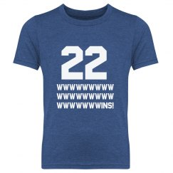 22 Wins Youth Tee