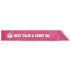 Keep Calm Sash