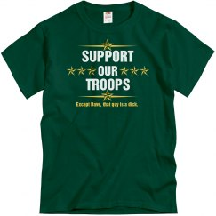 Support Our Troops Except