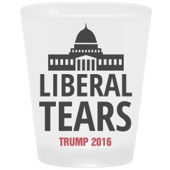 Frosted Liberal Tears Shot Glass