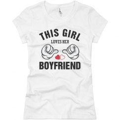 Girl loves her boyfriend