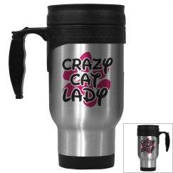 Crazy Cat Lady Travel Mug