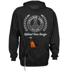 Add Your Logo Beer Holding Front Pocket