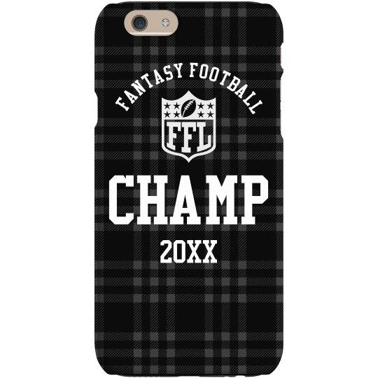 Fantasy Football Champion Prize Custom Year Phone Case