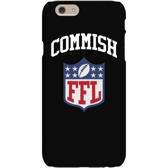 Fantasy Football Commish League Logo Phone Case