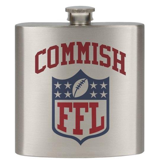 Fantasy Football Commish/Commissioner Flask