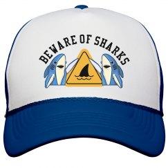 Beware of Sharks Trucker Hat
