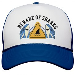 Beware of Sharks Trucker Hat