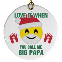 Big Papa Emoji Ornament