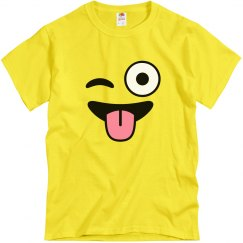 Funny Emoji Winking Costume