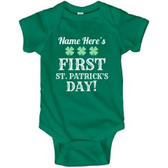 Custom Baby's First St Pattys