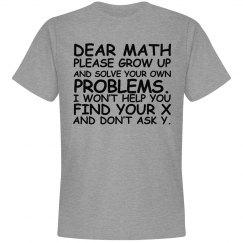 Dear Math Shirt