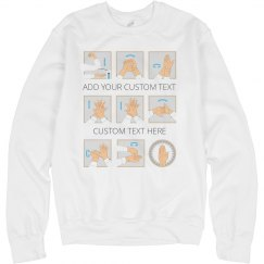Handwashing Graphic Print Sweatshirt