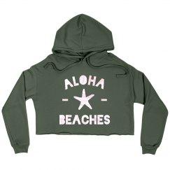 Aloha Beaches Crop Hoodie