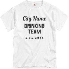 Custom City Drinking Team