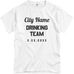 Custom City Drinking Team