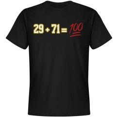 29 + 71 = 100