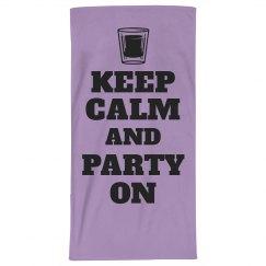 Keep Calm Spring Break Towel
