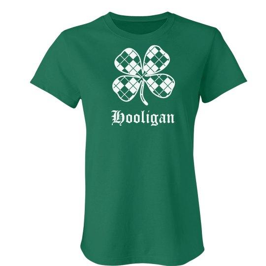 83cb9ea17 Hooligan St Patricks Day Ladies Slim Fit Favorite T-Shirt