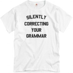 Silently Correcting Your Grammar